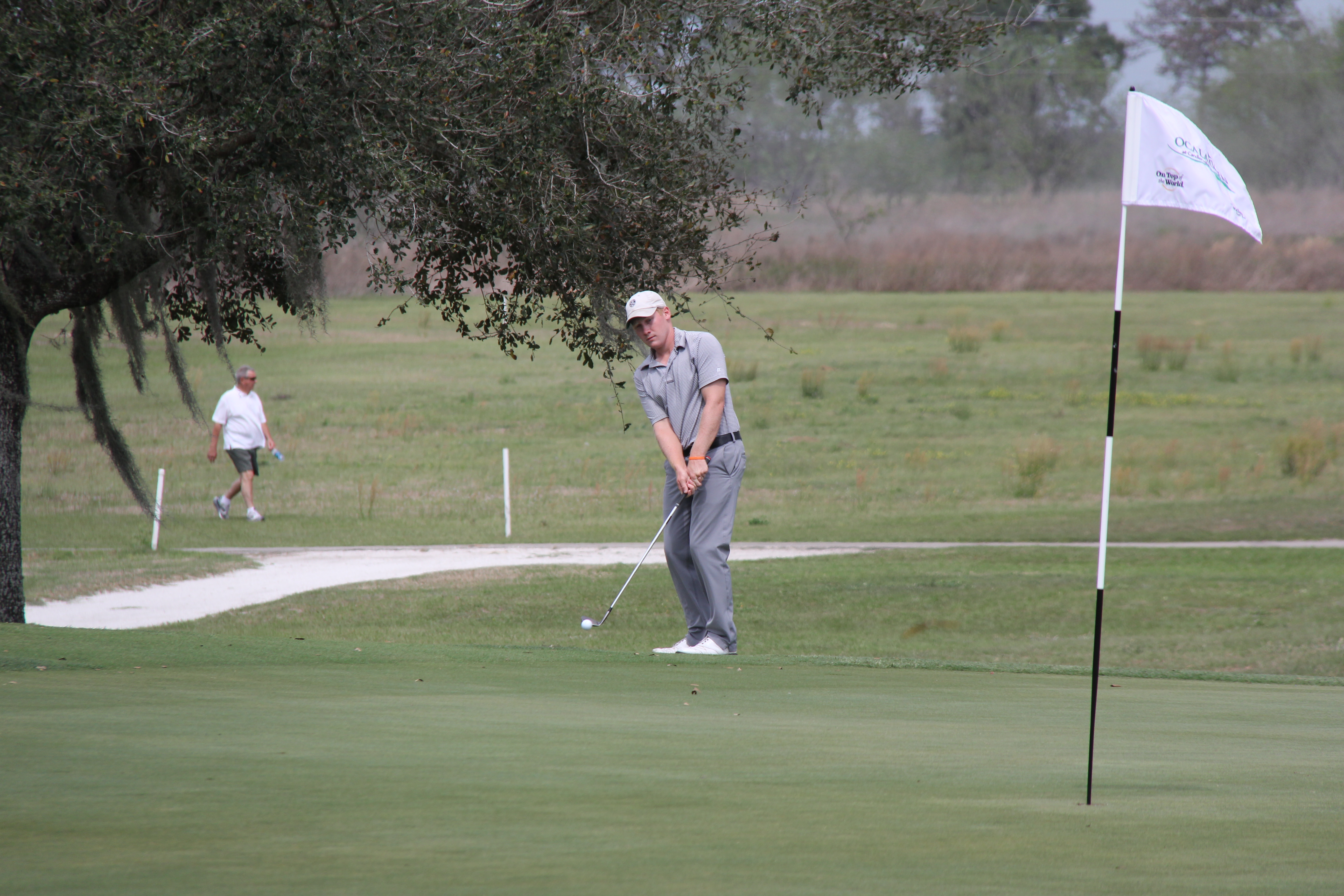 Getting to the green at the Candler Hills Golf Club Ocala Open Golf Tournament
