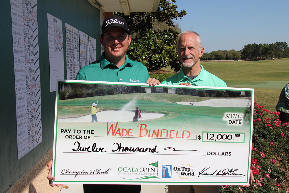 Wade Binfield, 2017 champion of the Ocala Open at Candler Hills Golf Club.