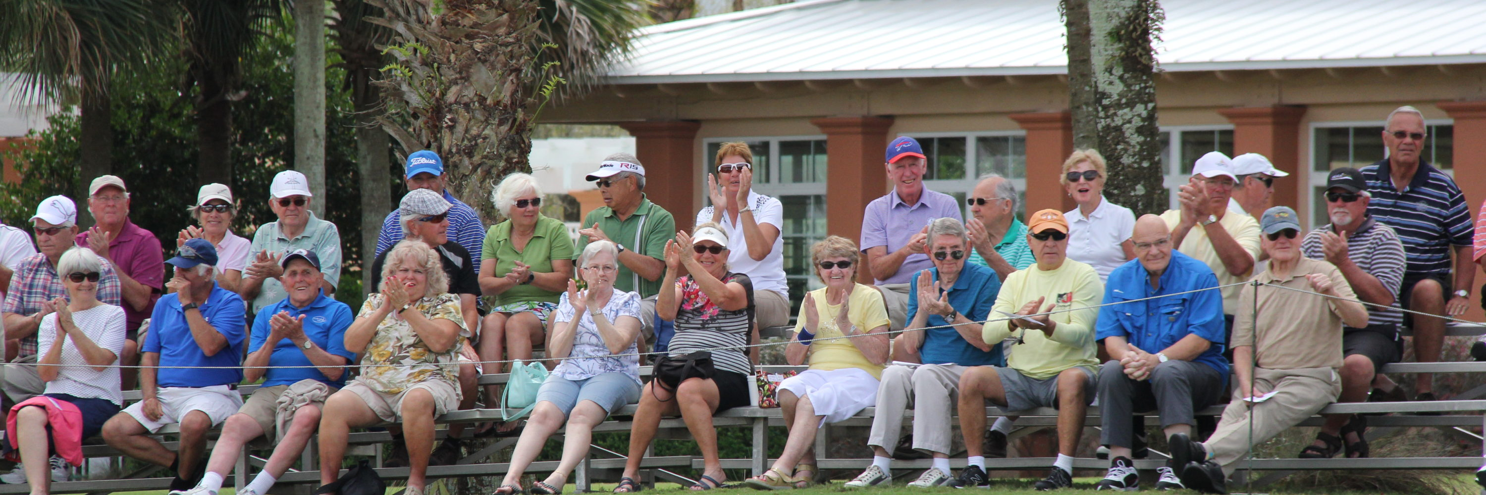 Spectators enjoying the Ocala Open at Candler Hills Golf Course